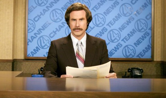 """I'm going to punch you in the ovary, that's what I'm gonna do"" - Ron Burgundy, the king of appropriate workplace communications"